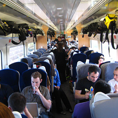 large group travel in Standard Class carriages
